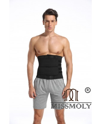 MEN'S Waist Trainer Cincher Trimmer Body Shaper Slimming Sauna Sweat Belt Yoga Girdle