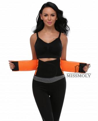 Waist Trainer Belt for Women Waist Cincher Trimmer Slimming Body Shaper Belt Sport Girdle Belt Orange