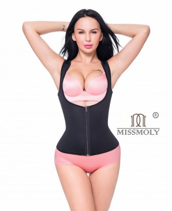 Women Sweat Neoprene Waist Trainer Hot Slimming Sauna Vest Tummy Control Body Shaper